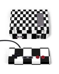 Black and White Checkered NES Classic Edition Skin