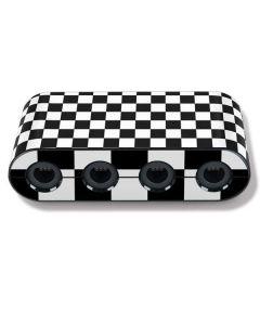 Black and White Checkered Nintendo GameCube Controller Adapter Skin