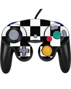 Black and White Checkered Nintendo GameCube Controller Skin