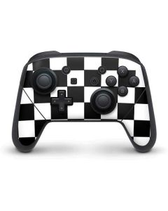 Black and White Checkered Nintendo Switch Pro Controller Skin