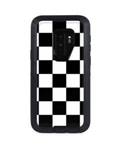 Black and White Checkered Otterbox Defender Galaxy Skin