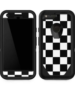 Black and White Checkered Otterbox Defender Pixel Skin