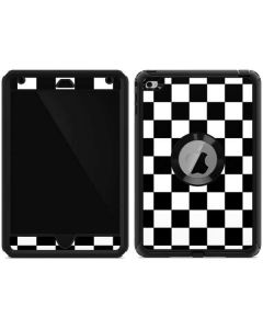 Black and White Checkered Otterbox Defender iPad Skin