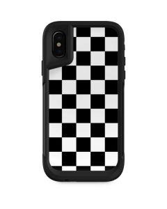 Black and White Checkered Otterbox Pursuit iPhone Skin