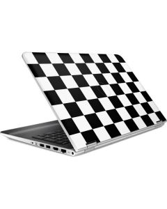 Black and White Checkered HP Pavilion Skin