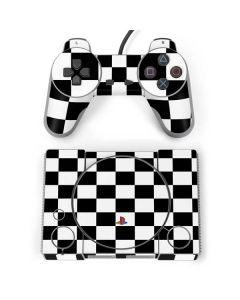 Black and White Checkered PlayStation Classic Bundle Skin