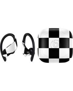 Black and White Checkered PowerBeats Pro Skin