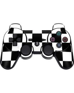 Black and White Checkered PS3 Dual Shock wireless controller Skin