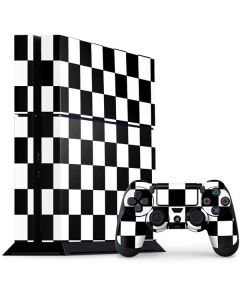 Black and White Checkered PS4 Console and Controller Bundle Skin
