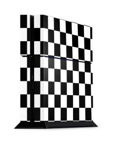 Black and White Checkered PS4 Console Skin