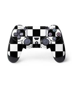 Black and White Checkered PS4 Controller Skin