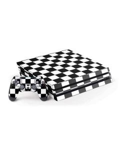 Black and White Checkered PS4 Pro Bundle Skin