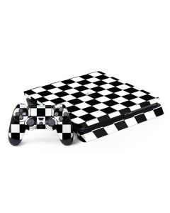 Black and White Checkered PS4 Slim Bundle Skin
