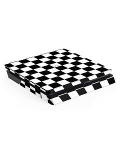 Black and White Checkered PS4 Slim Skin