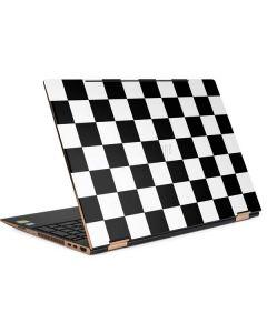 Black and White Checkered HP Spectre Skin