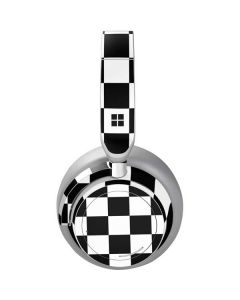 Black and White Checkered Surface Headphones Skin