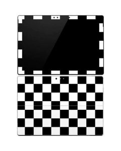 Black and White Checkered Surface Pro 4 Skin