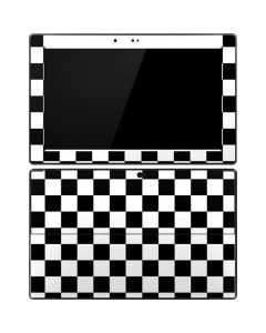 Black and White Checkered Surface Pro Tablet Skin