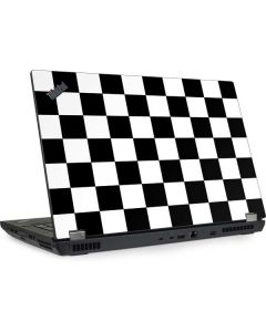 Black and White Checkered Lenovo ThinkPad Skin