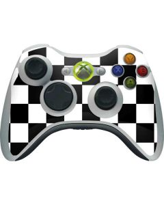 Black and White Checkered Xbox 360 Wireless Controller Skin