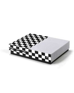 Black and White Checkered Xbox One S Console Skin
