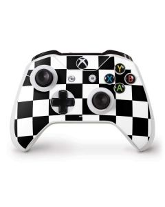Black and White Checkered Xbox One S Controller Skin