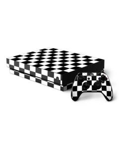Black and White Checkered Xbox One X Bundle Skin