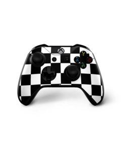 Black and White Checkered Xbox One X Controller Skin