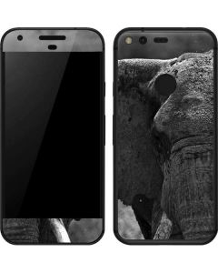 Black and White Elephant Google Pixel Skin