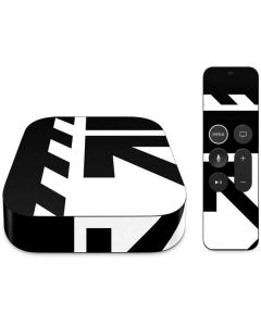 Black and White Geometric Shapes Apple TV Skin