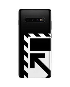 Black and White Geometric Shapes Galaxy S10 Plus Skin