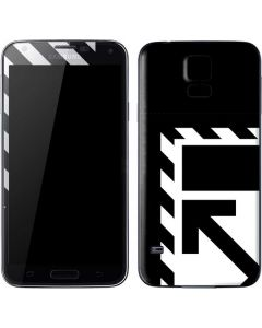 Black and White Geometric Shapes Galaxy S5 Skin