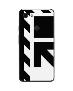Black and White Geometric Shapes Google Pixel 3 XL Skin