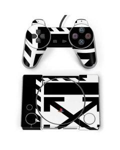 Black and White Geometric Shapes PlayStation Classic Bundle Skin