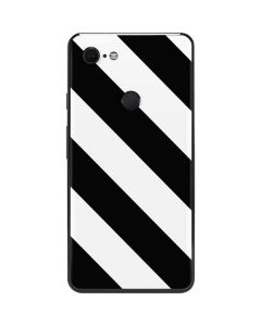 Black and White Geometric Stripes Google Pixel 3 XL Skin