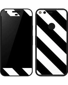 Black and White Geometric Stripes Google Pixel Skin
