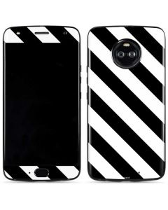 Black and White Geometric Stripes Moto X4 Skin