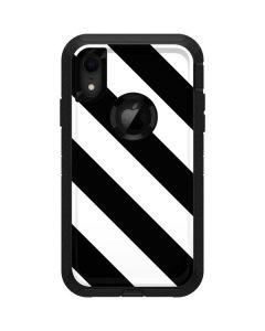 Black and White Geometric Stripes Otterbox Defender iPhone Skin