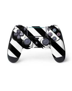 Black and White Geometric Stripes PS4 Pro/Slim Controller Skin