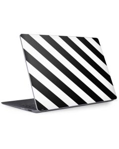 Black and White Geometric Stripes Surface Laptop 2 Skin