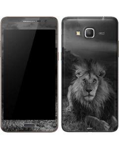 Black and White Lion Galaxy Grand Prime Skin
