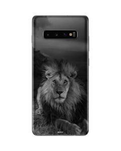 Black and White Lion Galaxy S10 Plus Skin
