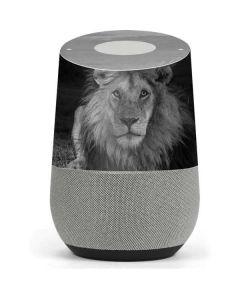 Black and White Lion Google Home Skin