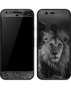 Black and White Lion Google Pixel Skin