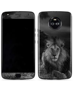 Black and White Lion Moto X4 Skin