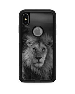 Black and White Lion Otterbox Commuter iPhone Skin