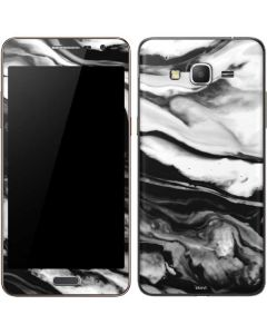 Black and White Marble Ink Galaxy Grand Prime Skin