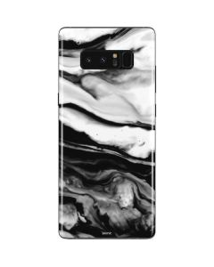 Black and White Marble Ink Galaxy Note 8 Skin