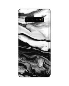 Black and White Marble Ink Galaxy S10 Plus Skin