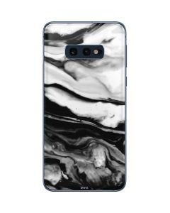 Black and White Marble Ink Galaxy S10e Skin